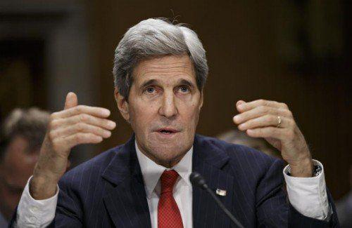 US-AußenministerJohn Kerry droht Moskau.  Foto:AP
