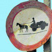 Wichtiges Pferdefuhrwerk