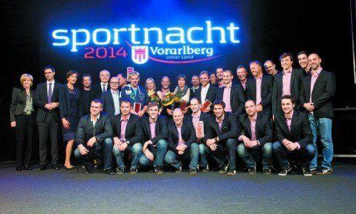 Viele Trophäen und strahlende Sieger: Die Sportler des Jahres 2013 wurden auf dem Messegelände in Dornbirn gefeiert.