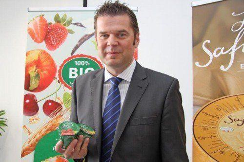 Vorarlberg-Milch-GF Raimund Wachter: Angebot für bewusste Konsumenten.  Foto: VN