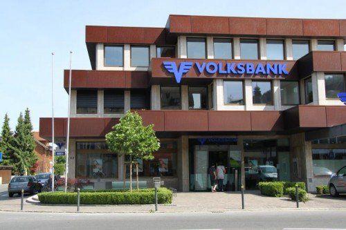 Die Volksbank Rankweil wurde zum Tatort eines Einbruchs.vn/bühler