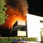 Balkon in Lauterach brannte lichterloh