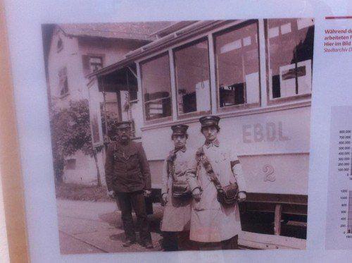 Während des Ersten Weltkrieges arbeiteten Frauen wie Anna und Antonia Kessler als Schaffnerinnen.