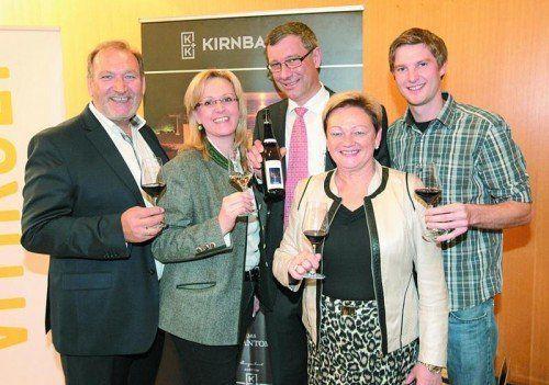 Walter Kirnbauer, Ulli Haas, Franz Prechtl, Irmgard Kirnbauer und Lukas Hundsdorfer (v. l.). Fotos: ame