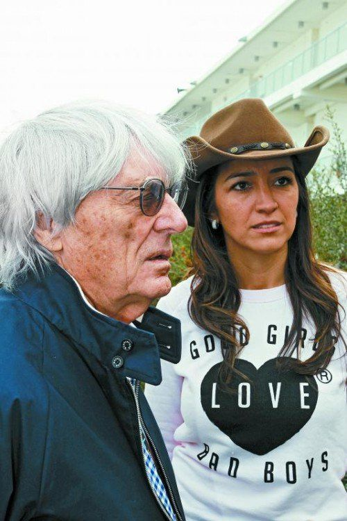 Wenn gute Mädchen böse Buben lieben: Bernie Ecclestone mit seiner Frau Fabiana Flosi. Foto: gepa