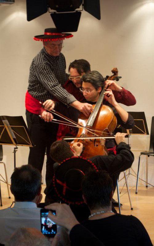 """""""Wiener Celloensemble 5+1"""" bot Außergewöhnliches.  Foto: Purin"""