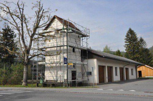 Wird als Lagerraum verwendet: Trafohaus in Muntlix.  Foto: MWE