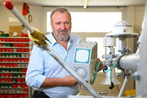 Wolfram Sommer und seine Mitarbeiter sind Experten für Naturmessungen aller Art.vn/hb