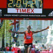 Kipsang lief in London neuen Streckenrekord