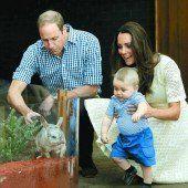 Prinz George zu Besuch in australischem Zoo