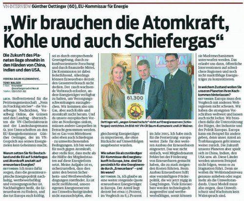 Zum VN-Interview vom 11. April 2014
