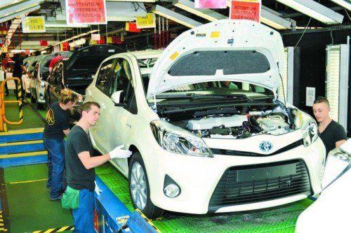 1100 Yaris verlassen täglich das Toyota-Werk in Frankreich.