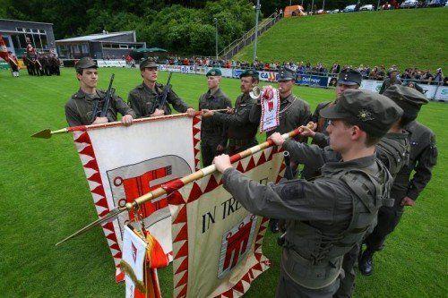 Angelobung von 100 Rekruten des Jägerbataillon 23; Angelobungsfeier Bundesheer