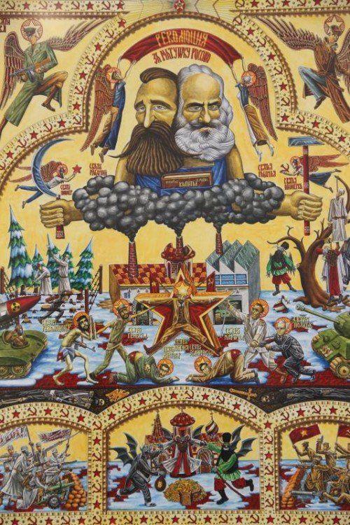 Der Maler Aleksandar Todorovic entblößt Ideologien. Foto: AG
