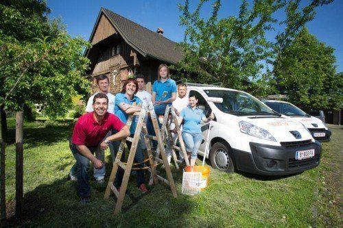 Der Malerbetrieb Bösch aus Höchst hat sich auf Fassadengestaltung und -erhaltung spezialisiert.  Foto: VN/Hartinger