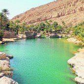 Abkühlung: Baden im Wadi