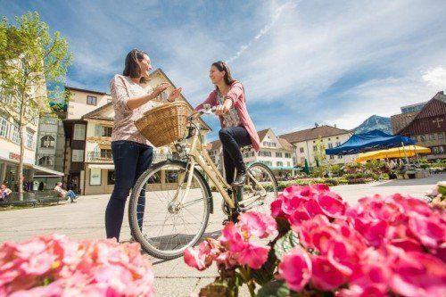Die Vorarlberger sind im Bundesländervergleich vorbildlich unterwegs: Über zwanzig Prozent der Einkäufe werden mit dem Fahrrad erledigt. VN/Steurer