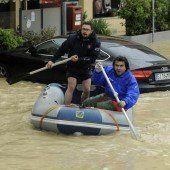 Schwere Unwetter in Norditalien