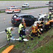 Spektakulärer Unfall auf der A1