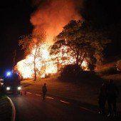Wohnhaus samt Scheune niedergebrannt