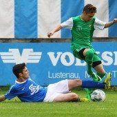 Lustenauer Derby eine klare Sache für Austrias U-16-Mannschaft