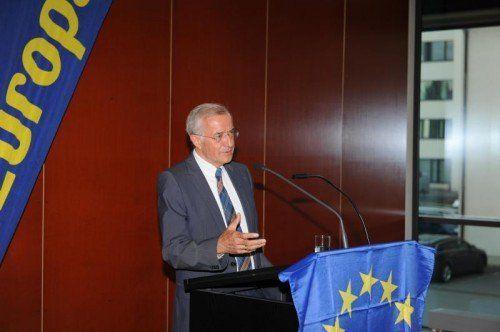 Herbert Sausgruber hielt einen Vortrag zur Situation der EU.