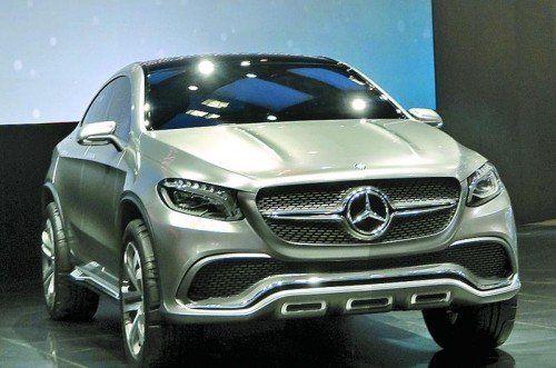 "Mercedes zeigt in Peking die Studie ""Concept Coupé SUV"". Foto: werk"
