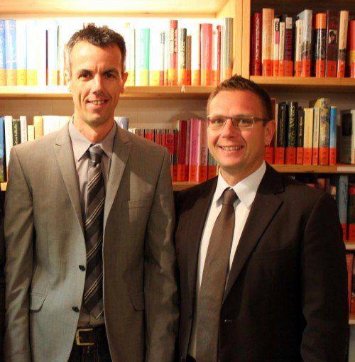 Werner Asam mit DLZ-Leiter Roland Köfler (r.).  Foto: VN/js