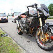 Motorrad mehrmals überschlagen