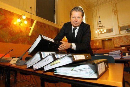 Am LG Salzburg werden erneut die Akten in Sachen Testamentsaffäre aufgelegt, auch Kurt T.s Anwalt Nicolas Stieger wird das tun. VN/HB
