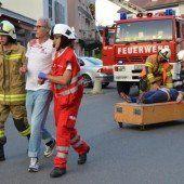 Blutige Szenen bei Katastrophenübung