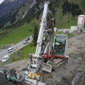 Straßenneubau in Arlberger Felsmassiv