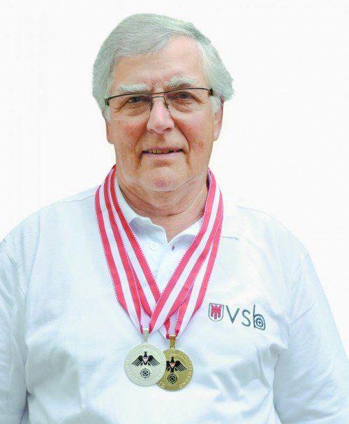 Bruno Dreher holte ÖM-Gold und Silber. privat