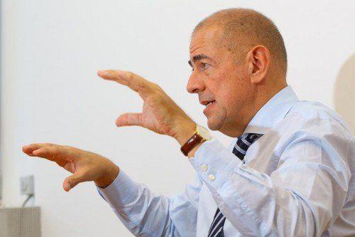 CEO Ulrich Schumacher blickt optimistisch in die Zukunft der Zumtobel-Gruppe. Foto: VN/Hofmeister