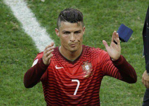 Cristiano Ronaldo muss seine Koffer packen. Foto: ap