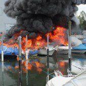 Flammeninferno wütete im Altenrheiner Jägerhaushafen