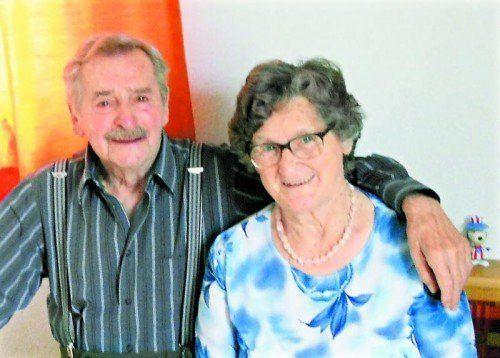 Das Jubelpaar ist dankbar dafür die ruhige Zeit gemeinsam verbringen zu können. fotos: privat