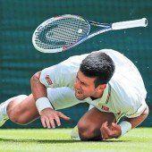 Schrecksekunde für Djokovic