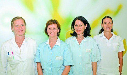 Das Team der Urogyn-Ambulanz hat sich für seine Aufgabe gerüstet und steht am Infotag gerne zur Verfügung.  Foto: KH Dornbirn