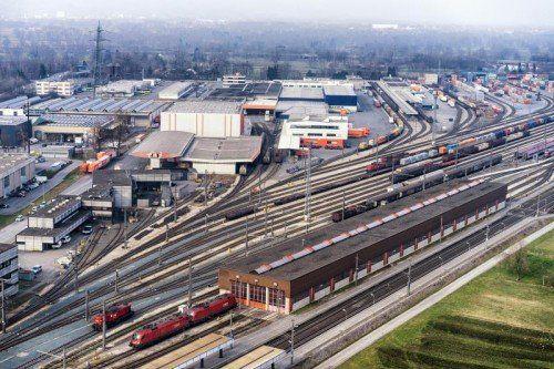 Gilt als eines der größten Vorhaben: der millionenschwere Ausbau des Güterbahnhofes Wolfurt. Foto: VN/STIPLOVSEK