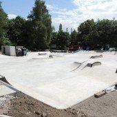 Skatepark in Bregenz in der Endphase