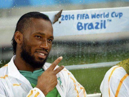 Didier Drogba steht heute in der Startelf. Foto: reuters