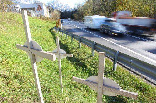 In Vorarlberg sind seit Jänner 17 Verkehrstote zu beklagen.  VN/HB