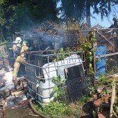 Gartenhaus explodierte
