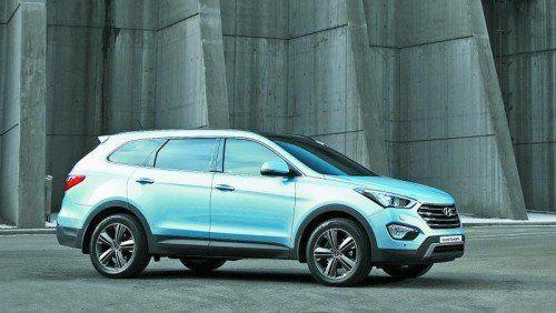 """Die """"Grand""""-Version des Mittelklasse-SUV Hyundai Santa Fe bietet bis zu sieben Personen Platz. Fotos: werk"""