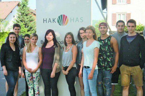 Die Marketing-Gruppe der HAK Lustenau. Fotos: HAK Lustenau