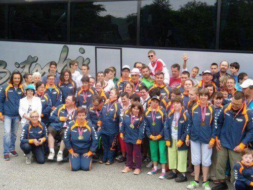 Die Vorarlberger Special-Olympics-Athleten bei den Summer Games in Klagenfurt Foto: verband