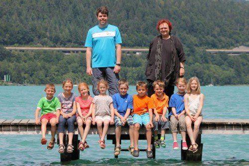Die Vorarlberger Teilnehmer der österreichischen U 8- und U 10-Meisterschaften in Velden mit ihren Betreuern. Foto: verband