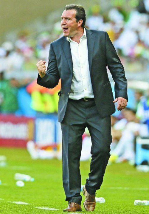 Emotional unterwegs: Belgien-Coach Marc Wilmots. Foto: apa