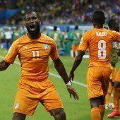 Elfenbeinküste schlägt Japan mit 2:1